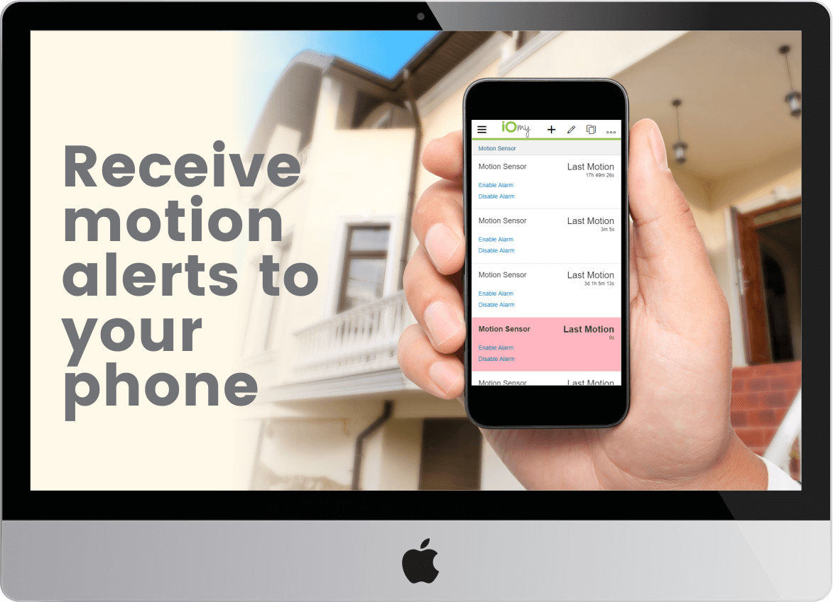 Receive motion alerts to your phone